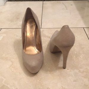 BCBGeneration Nude Heels - Size 7.5